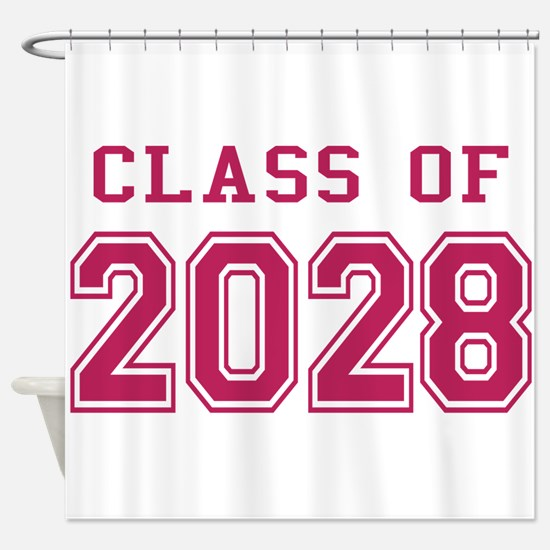 Class of 2028 (Pink) Shower Curtain