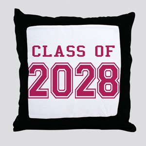 Class of 2028 (Pink) Throw Pillow
