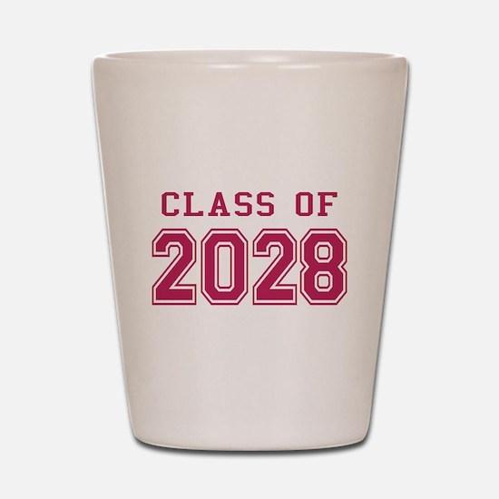 Class of 2028 (Pink) Shot Glass