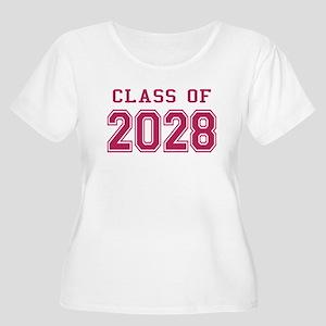 Class of 2028 (Pink) Women's Plus Size Scoop Neck
