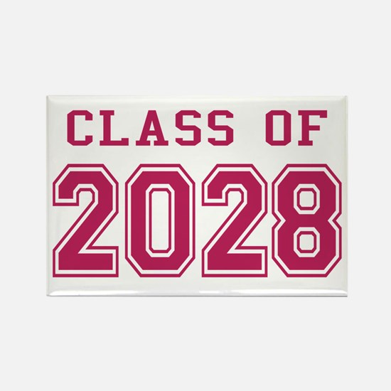 Class of 2028 (Pink) Rectangle Magnet
