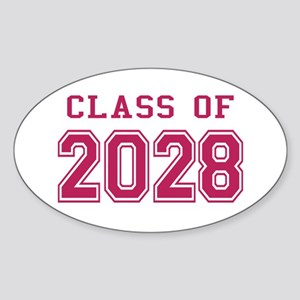 Class of 2028 (Pink) Sticker (Oval)