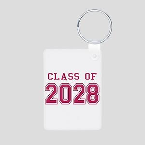 Class of 2028 (Pink) Aluminum Photo Keychain