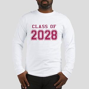 Class of 2028 (Pink) Long Sleeve T-Shirt