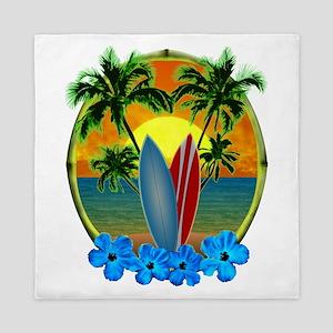 Surfing Sunset Queen Duvet