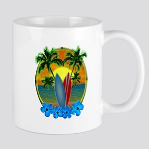 Surfing Sunset Mug