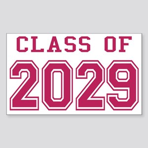 Class of 2029 (Pink) Sticker (Rectangle)