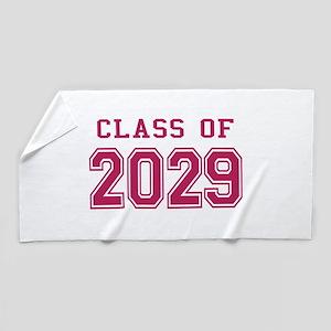 Class of 2029 (Pink) Beach Towel