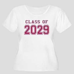 Class of 2029 (Pink) Women's Plus Size Scoop Neck