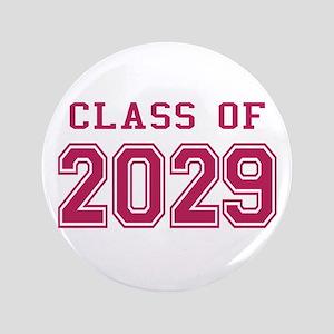 "Class of 2029 (Pink) 3.5"" Button"