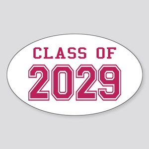 Class of 2029 (Pink) Sticker (Oval)