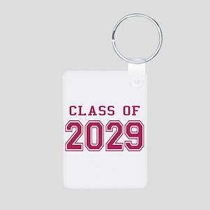 Class of 2029 (Pink) Aluminum Photo Keychain