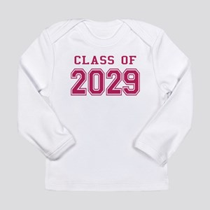 Class of 2029 (Pink) Long Sleeve Infant T-Shirt
