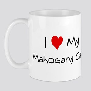 I Love Mahogany Cat Mug