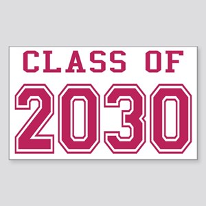 Class of 2030 (Pink) Sticker (Rectangle)