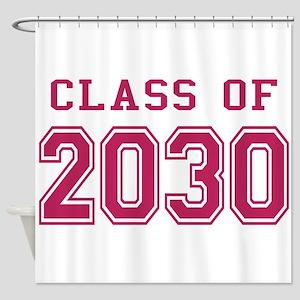 Class of 2030 (Pink) Shower Curtain