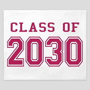 Class of 2030 (Pink) King Duvet