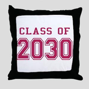 Class of 2030 (Pink) Throw Pillow