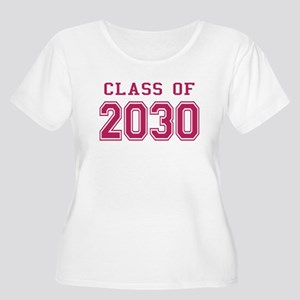 Class of 2030 (Pink) Women's Plus Size Scoop Neck
