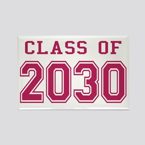 Class of 2030 (Pink) Rectangle Magnet