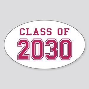Class of 2030 (Pink) Sticker (Oval)