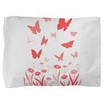 Pink Butterfly Pillow Sham