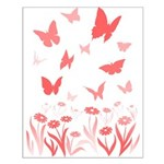 Pink Butterfly Small Poster