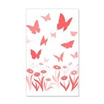 Pink Butterfly Decal Wall Sticker