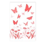 Pink Butterfly Postcards (package Of 8)