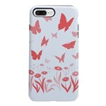 Pink Butterfly iPhone 7 Plus Tough Case