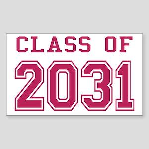 Class of 2031 (Pink) Sticker (Rectangle)