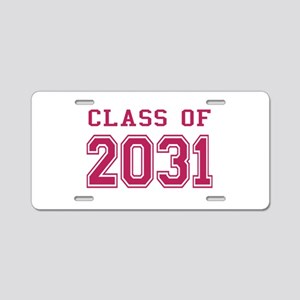 Class of 2031 (Pink) Aluminum License Plate