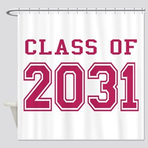 Class of 2031 (Pink) Shower Curtain