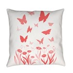 Pink Butterfly Everyday Pillow