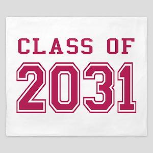 Class of 2031 (Pink) King Duvet