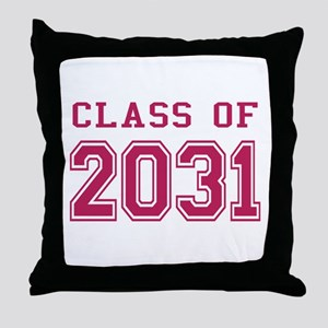 Class of 2031 (Pink) Throw Pillow