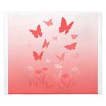 Pink Butterfly King Duvet