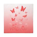 Pink Butterfly Queen Duvet