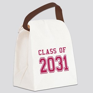 Class of 2031 (Pink) Canvas Lunch Bag