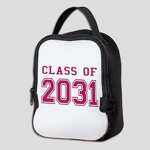 Class of 2031 (Pink) Neoprene Lunch Bag