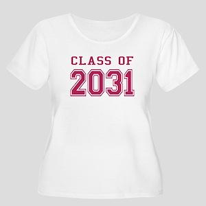 Class of 2031 (Pink) Women's Plus Size Scoop Neck
