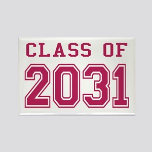 Class of 2031 (Pink) Rectangle Magnet
