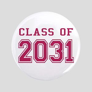 "Class of 2031 (Pink) 3.5"" Button"