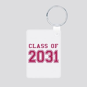 Class of 2031 (Pink) Aluminum Photo Keychain