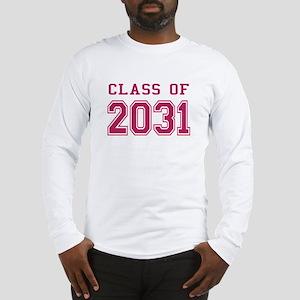 Class of 2031 (Pink) Long Sleeve T-Shirt