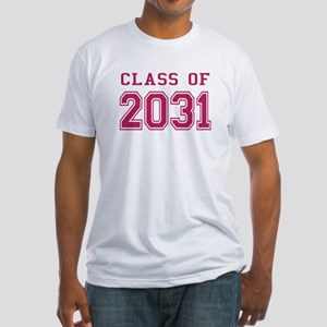 Class of 2031 (Pink) Fitted T-Shirt