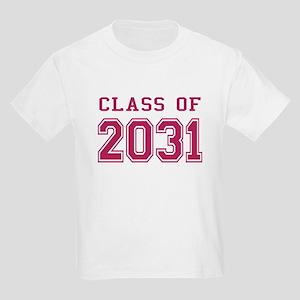 Class of 2031 (Pink) Kids Light T-Shirt