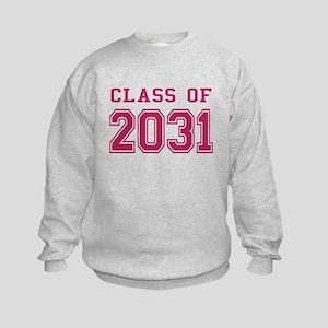 Class of 2031 (Pink) Kids Sweatshirt