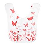 Pink Butterfly Polyester Baby Bib