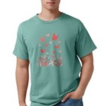 Pink Butterfly Mens Comfort Colors Shirt